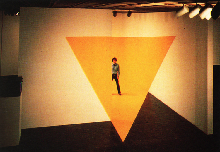 Yellow Triangle by Buky Schwartz