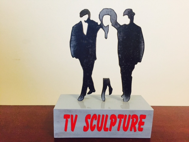 TV Sculpture II by Buky Schwartz